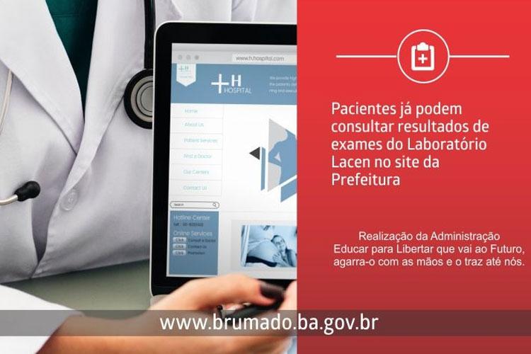 Brumado: Usuários podem consultar resultados de exames do Lacen por meio do site oficial da prefeitura