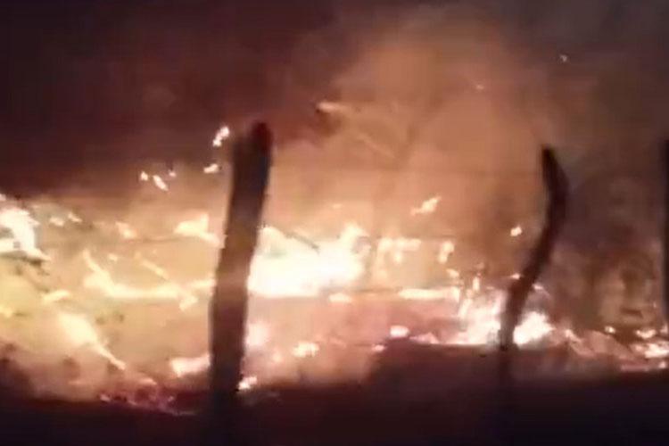 Incêndio de grandes proporções é registrado em Macaúbas