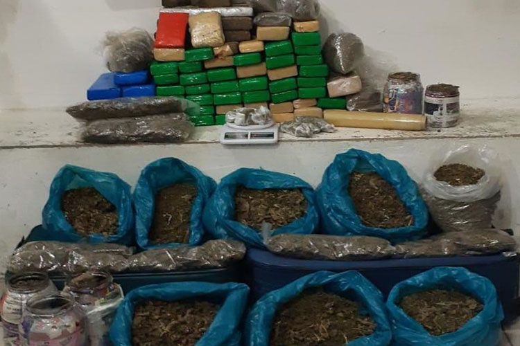 100 kg de drogas é localizada pelo Esquadrão Falcão em Vitória da Conquista