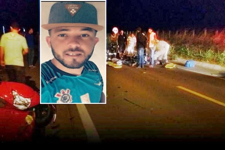 Jovem morre após sofrer acidente de moto na BA-148 entre Guajeru e Malhada de Pedras