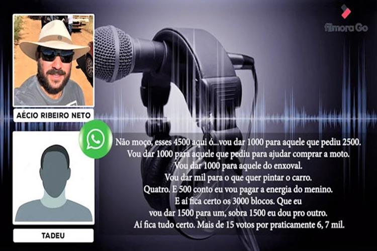 Livramento: Justiça manda retirar áudio do filho do prefeito com suposto plano para compra de votos