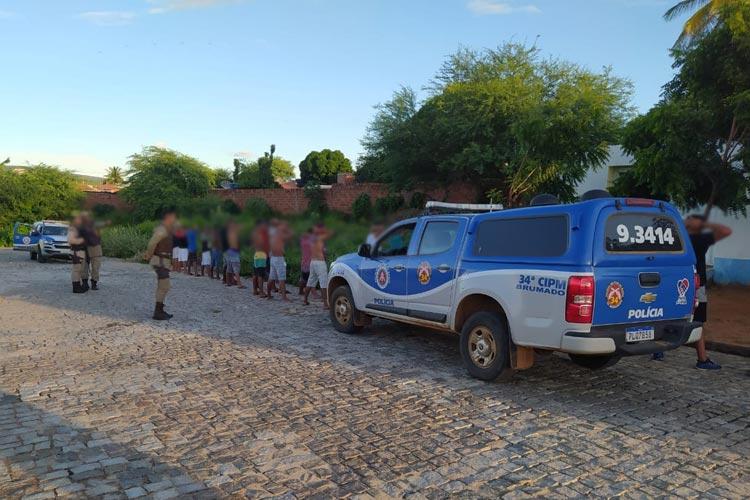 Brumado: Polícia Militar encerra 'Corona Fest' no Bairro Malhada Branca