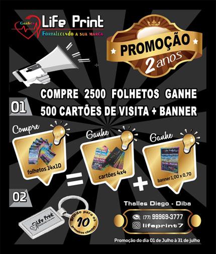 Life Print lança promoção em comemoração aos dois anos de existência em Brumado