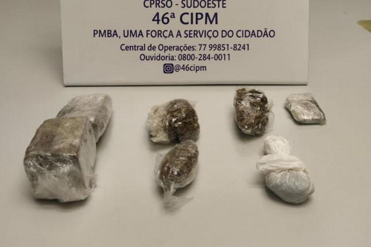 PM prende indivíduo por comercialização de drogas na cidade de Livramento de Nossa Senhora