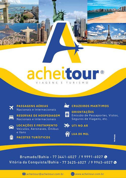 Achei Tour: A sua agência de viagens em Brumado e Vitória da Conquista
