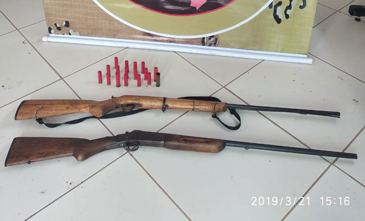 Armas e munições são encontradas em área de reserva na cidade de Candiba