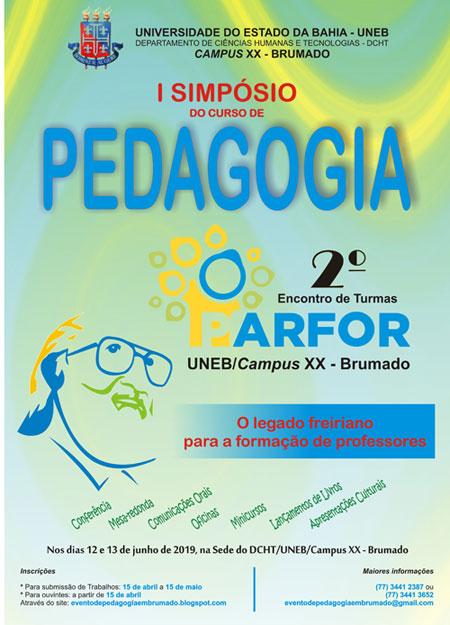 Brumado: I Simpósio do Curso de Pedagogia e 2º Encontro de Turmas do Parfor/Uneb