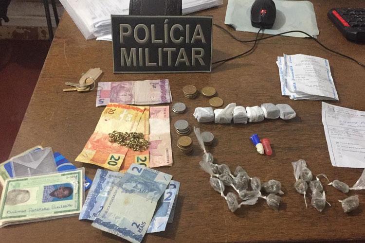 Polícia encontra drogas dentro de bar na cidade de Licínio de Almeida