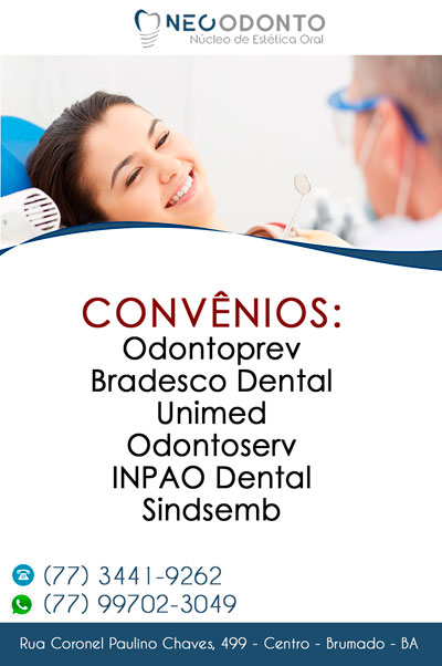 Neo Odonto possui convênio com vários planos de saúde em Brumado