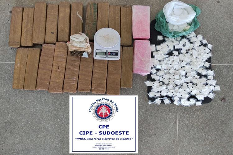 PM apreende 21 kg de maconha em Palmas de Monte Alto