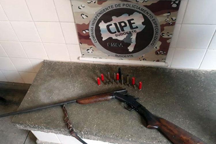 Aracatu: Arma de fogo é apreendida pela Caesg no Povoado de Várzea da Pedra
