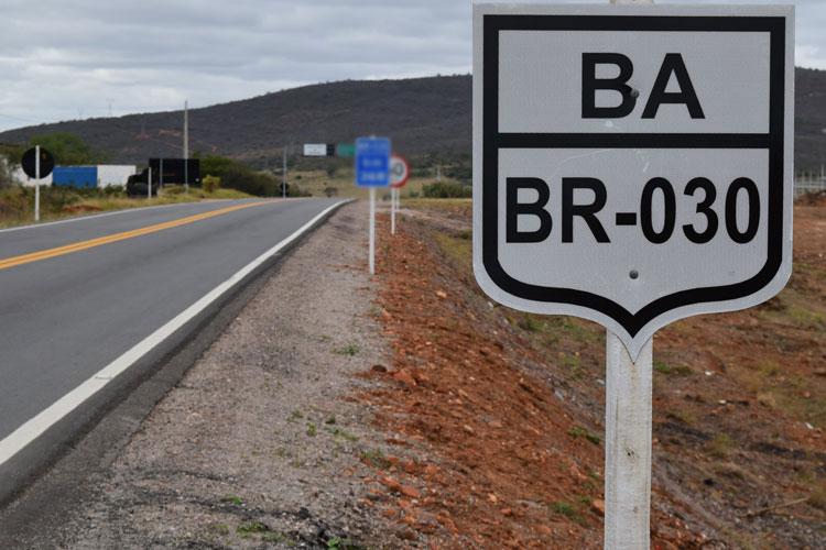 Brumado: Motociclista sofre acidente na BR-030 próximo à fábrica de cimento