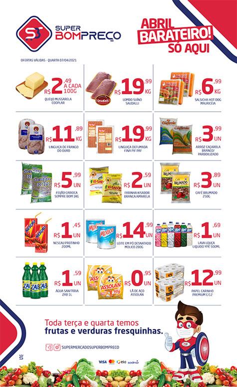 Brumado: Confira as promoções da 'Terça Verde' no Supermercado Super Bom Preço