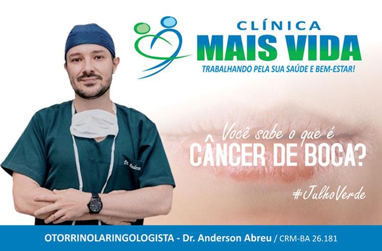 Clínica Mais Vida: Anderson Abreu faz um alerta sobre o Câncer de Boca