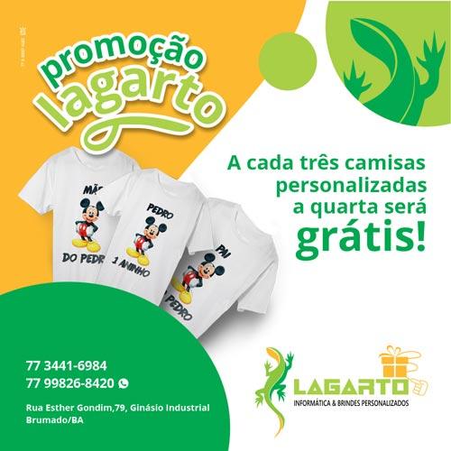 Lagarto lança promoção para camisas personalizadas em Brumado