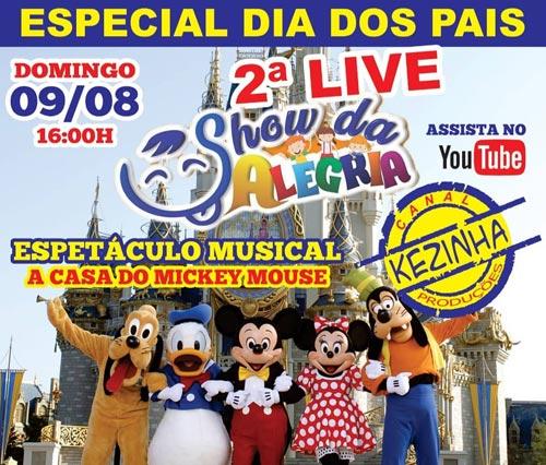 Brumado: 2ª Live Show da Alegria será transmitida no canal Kezinha Produções no domingo (09)