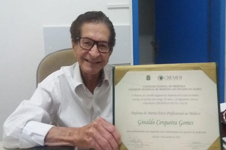 Guanambi: Médico Ginaldo Cerqueira Gomes morre aos 84 anos por complicações da Covid-19