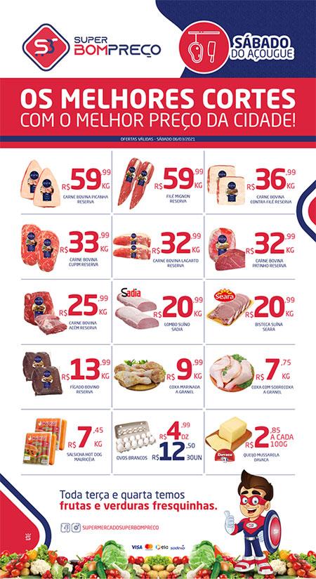 Sábado do açougue: Confira as promoções no Supermercado Super Bom Preço em Brumado