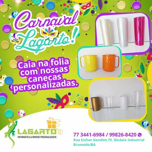 Brumado: Lagarto vende brindes personalizados para curtir o carnaval