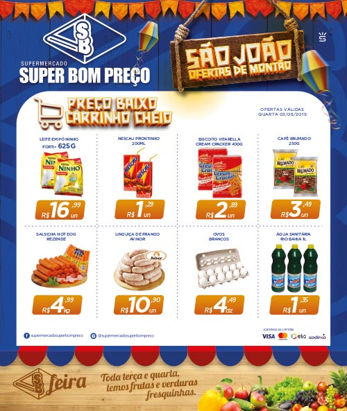 Confira as promoções desta quarta-feira (03) no Supermercado Super Bom Preço em Brumado