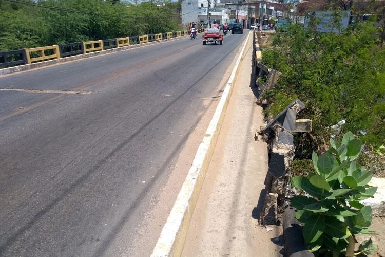 Brumado: Vereador Beto Bonelly cobra reforma da ponte na Avenida Coronel Santos