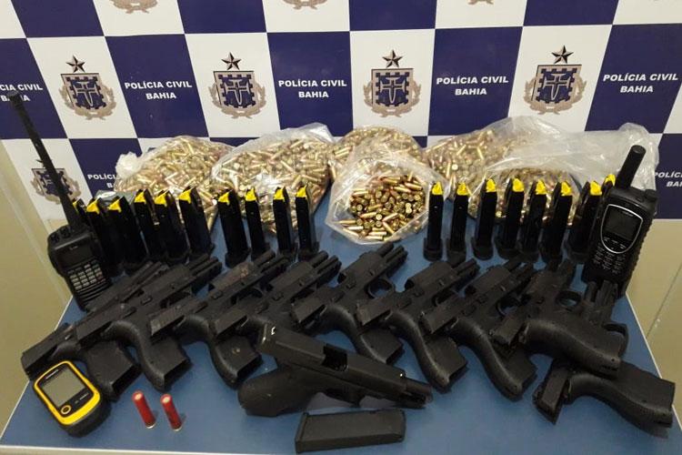 Polícia Civil desarticula quadrilha e encontra arsenal em sítio em Vitória da Conquista
