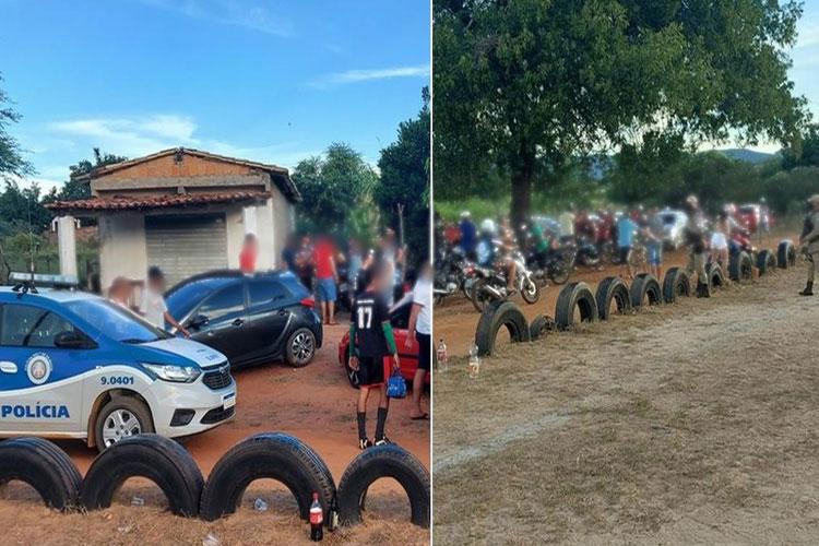 Evento de futebol com aglomeração de pessoas é dispersado na zona rural de Macaúbas