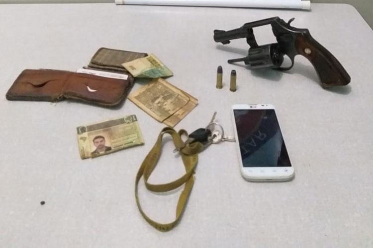 Homem é preso portando arma de fogo na zona rural de Lagoa Real