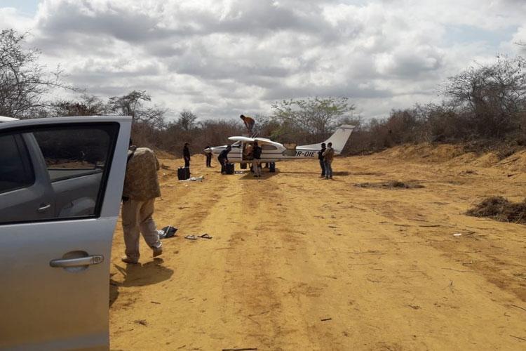 Conquista: Avião é apreendido e 3 são presos por transporte interestadual de drogas