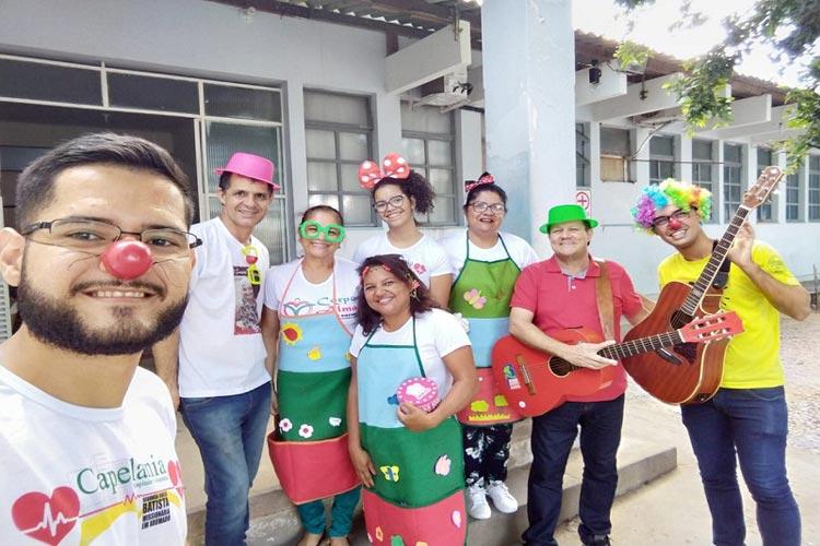 Voluntários do Grupo Capitania Hospitalar realizam visitas de rotina no Hospital Municipal de Brumado