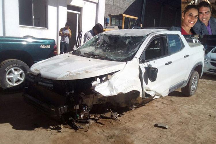 Caculé: Casal sofre acidente na BA-430 entre Bom Jesus da Lapa e Riacho de Santana
