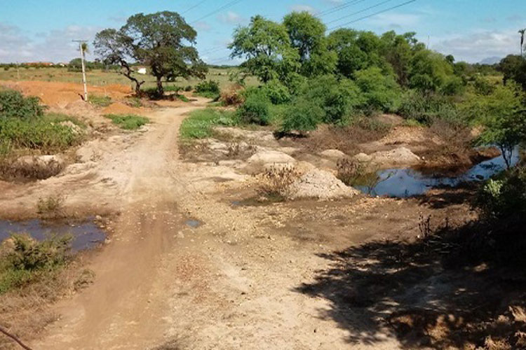 Dom Basílio: Rio Brumado está seco após cheia que durou seis dias