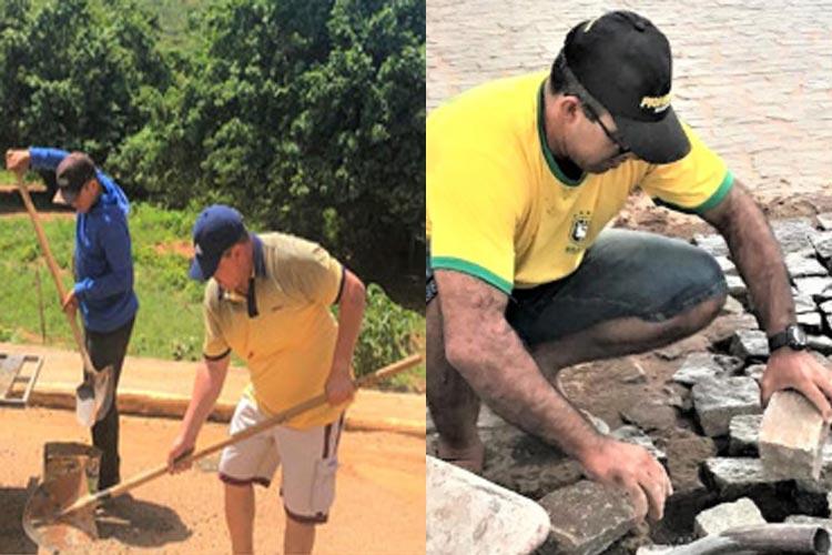 Livramento de Nossa Senhora: Vereadores se passam por operários em obras no Distrito de Iguatemi