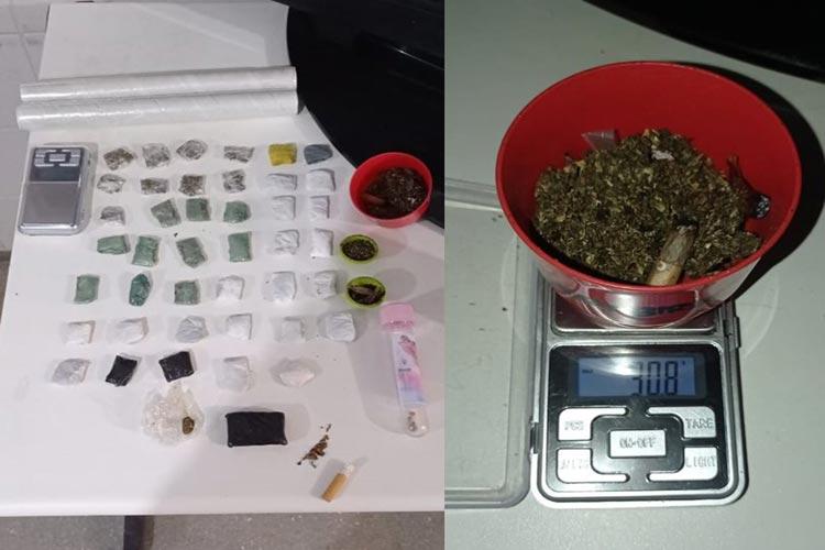 Guanambi: PM prende jovem com drogas e balança de precisão