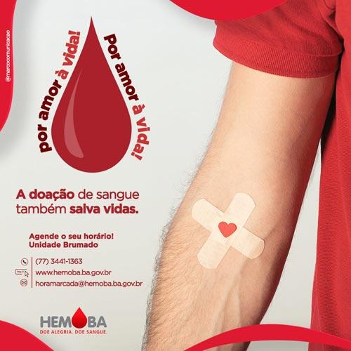 Hemoba lança campanha para doação agendada de sangue em Brumado