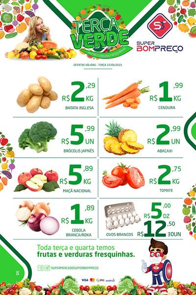 Confira as promoções da 'Terça Verde' no Supermercado Super Bom Preço em Brumado
