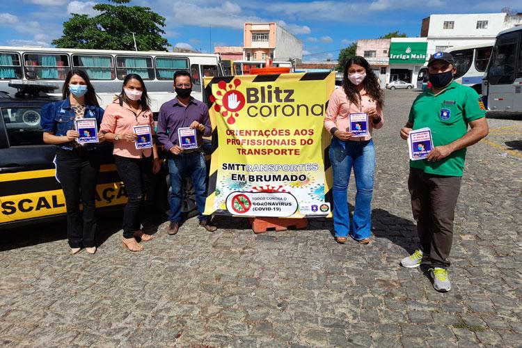 Brumado: SMTT e 18ª Ciretran promovem blitz de conscientização para uso de máscaras no transporte coletivo