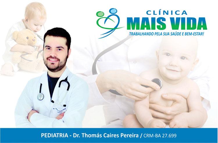 Thomás Caires Pereira, pediatra, passa a atender na Clínica Mais Vida, ampliando quadro de especialistas