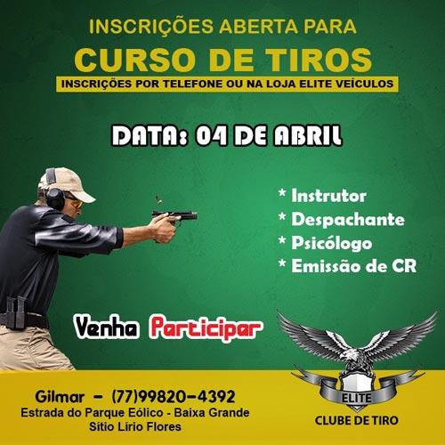 Inscrições estão abertas para novo curso de tiros em Brumado