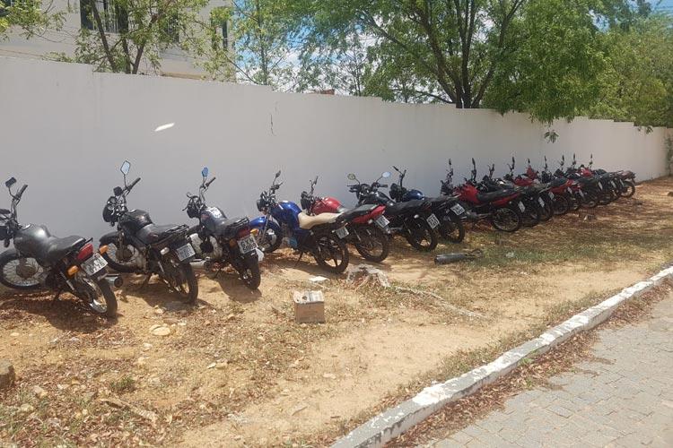 Motos apreendidas na Operação Kadron vão a leilão em Guanambi