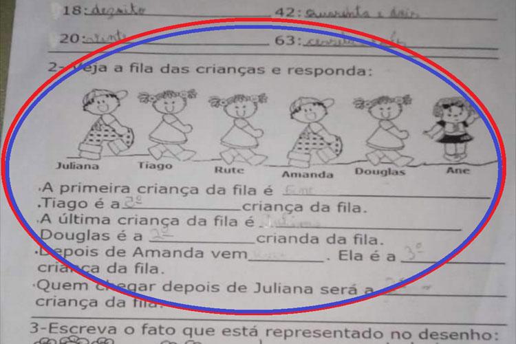 Erro em formatação de tarefa escolar dá conotação a ideologia de gênero e gera polêmica em Brumado