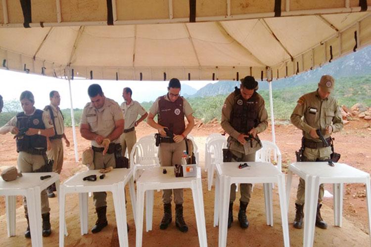Livramento: Policiais lotados na 46ª CIPM recebem instrução de tiro
