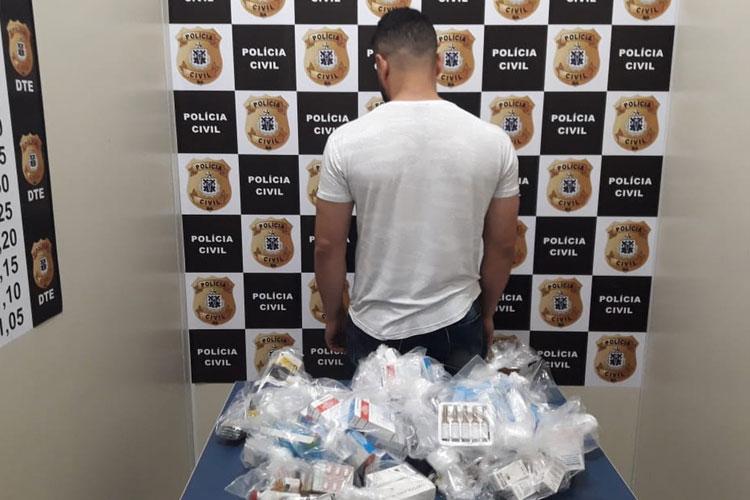 Vitória da Conquista: Dono de farmácia é preso suspeito de vender medicamentos ilegais