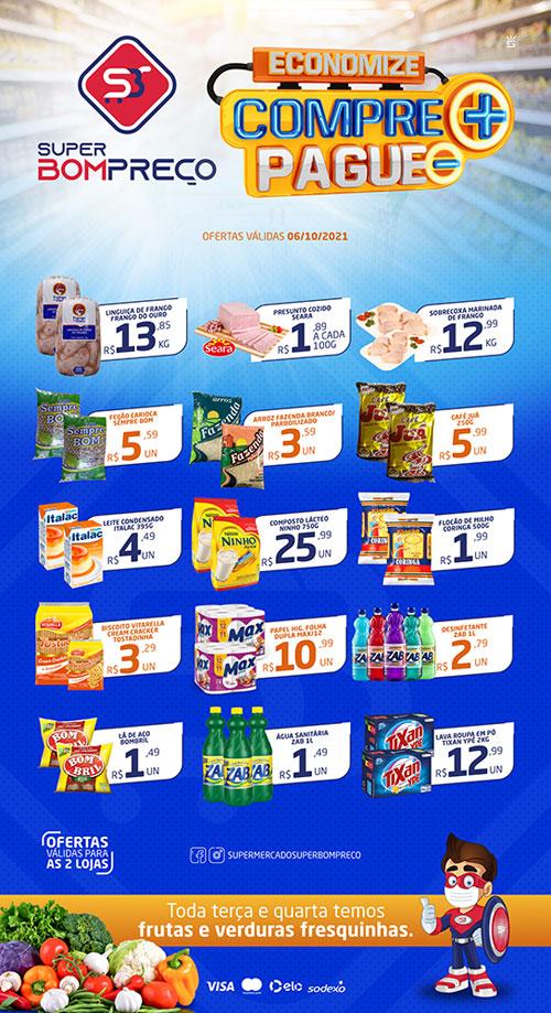 Confira as promoções desta quarta (26) no Supermercado Super Bom Preço em Brumado