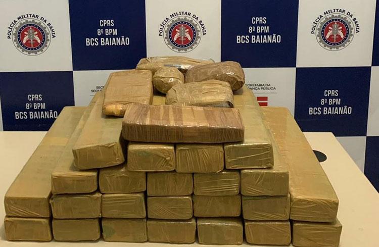 Homem é preso com 30 quilos de maconha, cocaína e crack na cidade de Porto Seguro