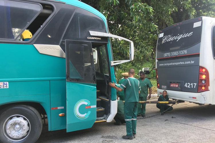 Ônibus que sairia de Salvador para Jequié tem princípio de incêndio na rodoviária
