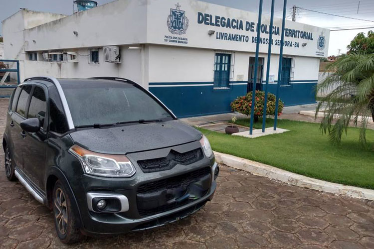 Polícia Civil apreende veículo com sinais de adulteração em Livramento de Nossa Senhora