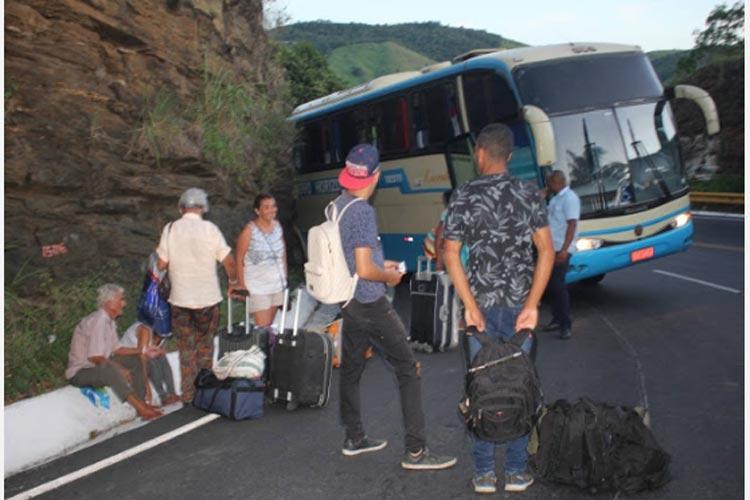 Vitória da Conquista: Ônibus da Novo Horizonte perde freio na Serra do Marçal na BA-263
