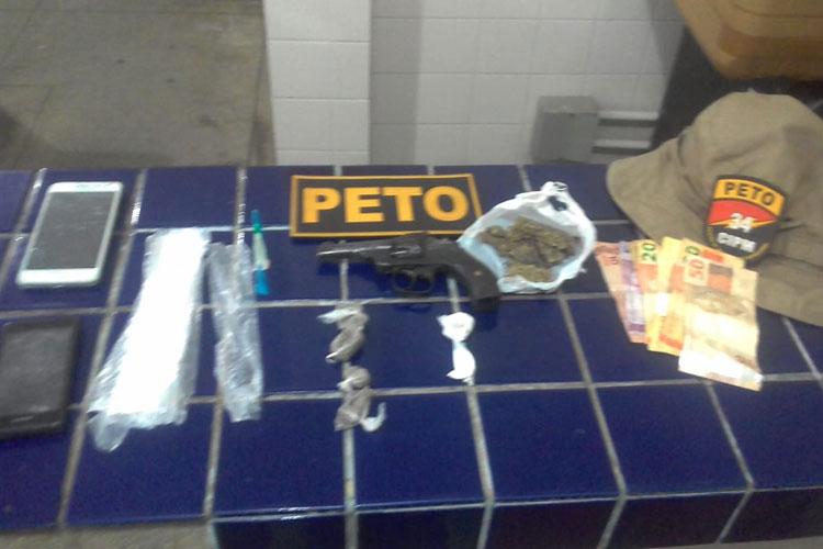Barra da Estiva: Polícia apreende drogas, celulares e arma furtada no Rio Grande do Sul