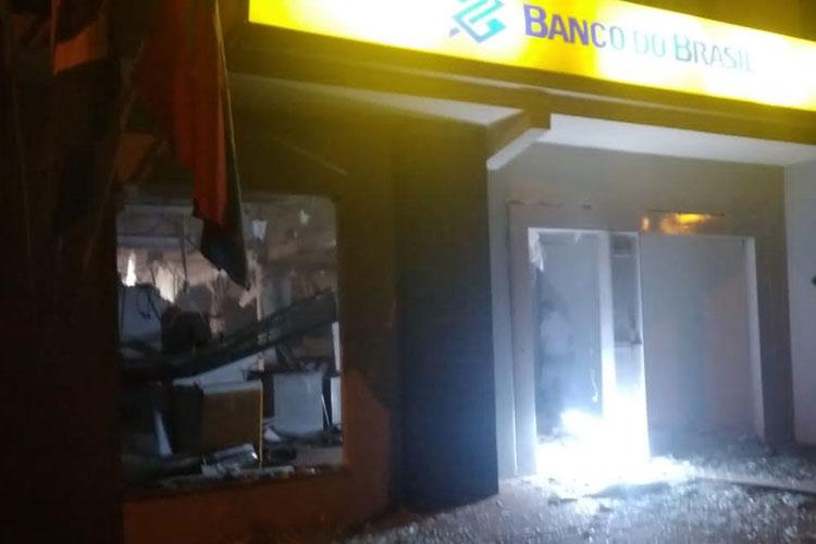 Bandidos explodem agência do Banco do Brasil em Lagoa Real